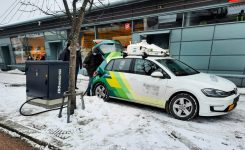 Passenger electric cars in Helsinki charged from Ekoenergetyka-Polska's station